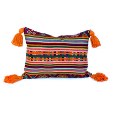 Cheery Tassel Pillow - Vintage, handwoven and hand-stitched - Memento Style