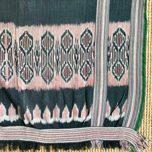 vintage blanket textile from indonesia ikat natural dye