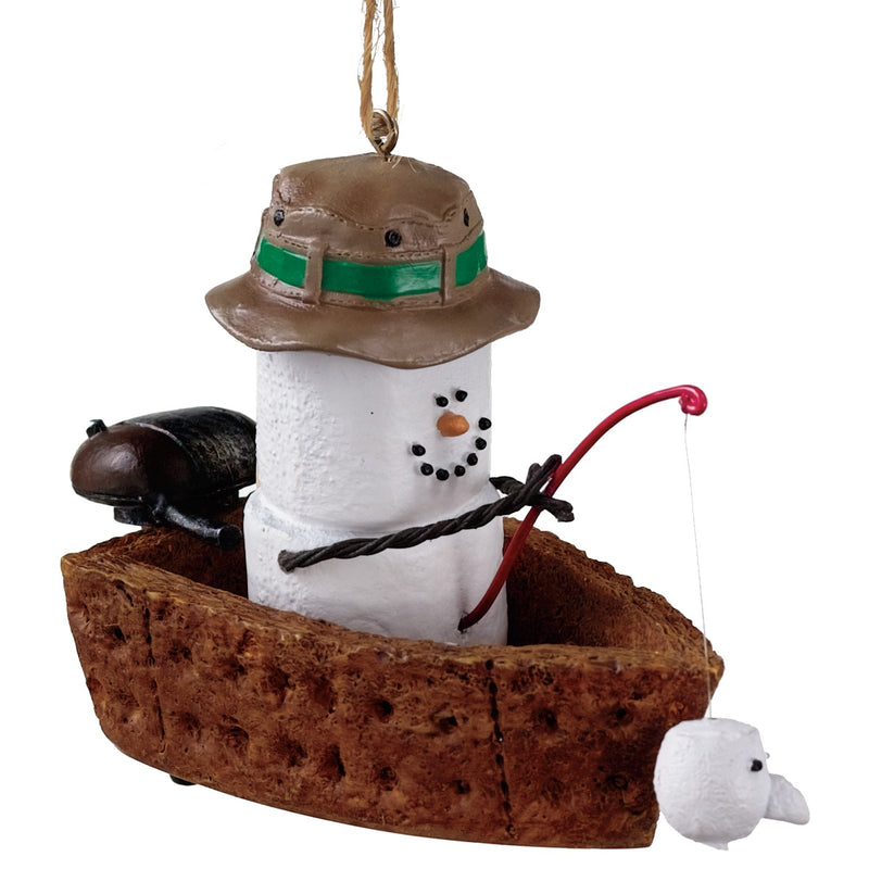S'mores Fishing Boat Ornament