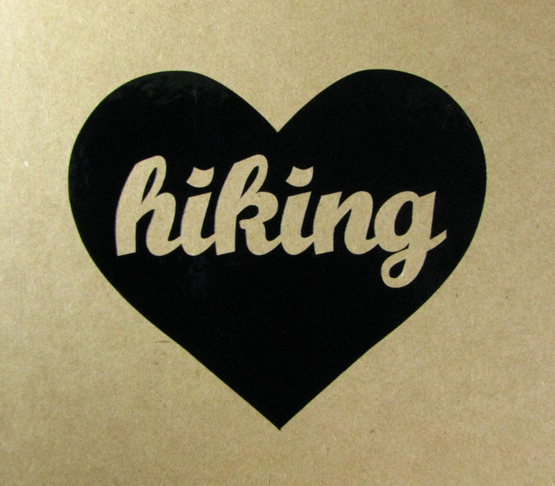 Hiking Heart Vinyl Window Decal