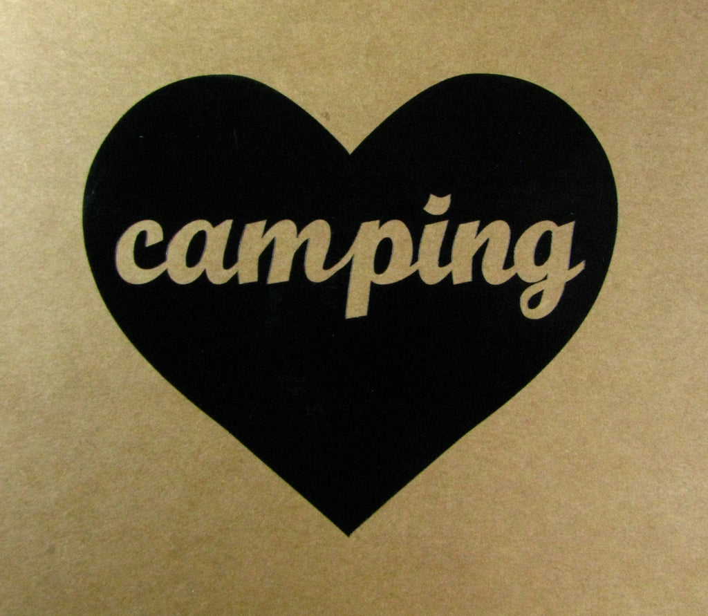 Camping Heart Window Decal