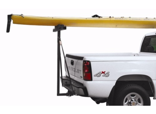 Darby Extend-A-Truck Kayak Carrier w/ Hitch Mounted Load Extender and Single-Bar Roof Rack