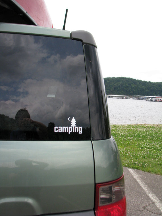 Camping Vinyl Decal Sticker