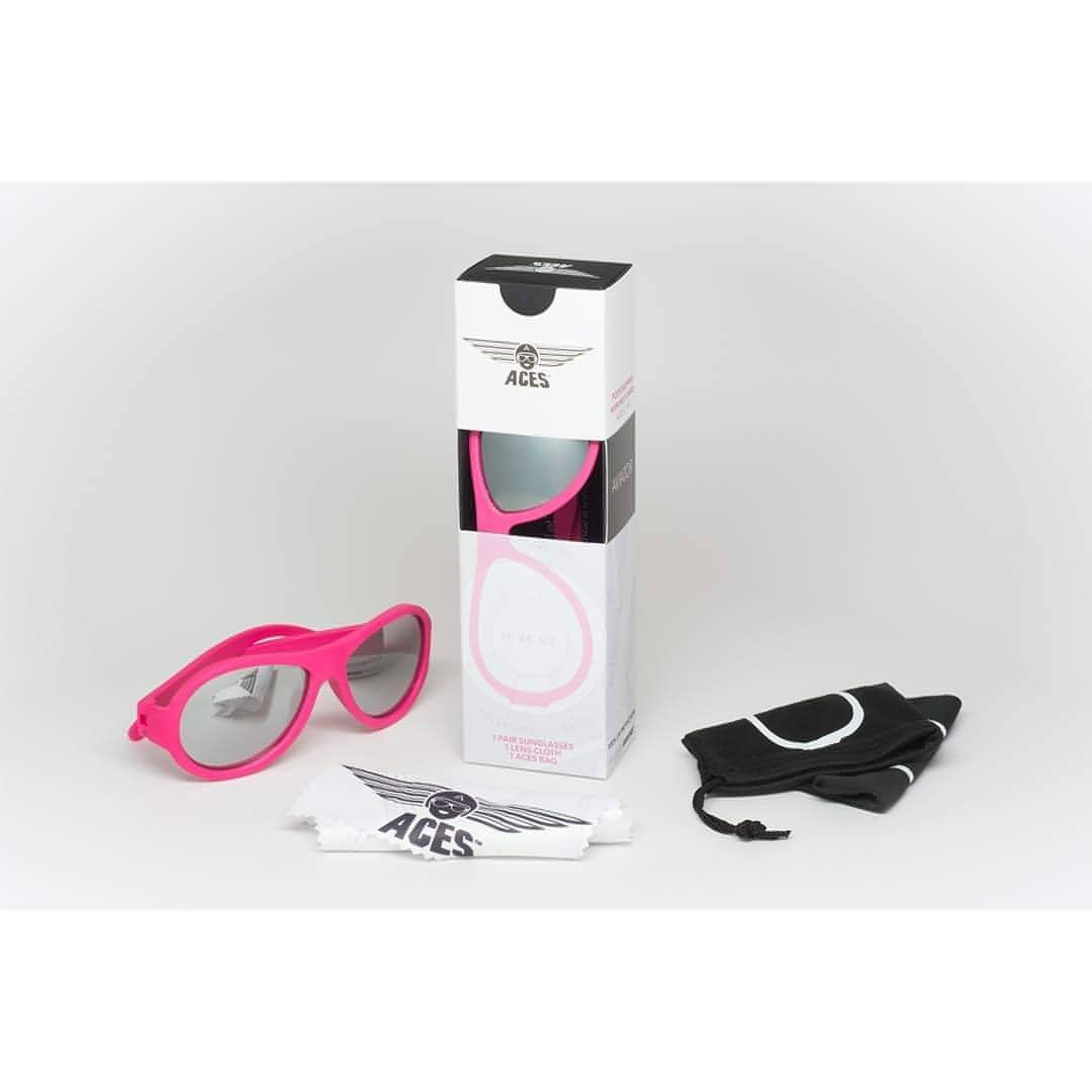 Babiators Aces Aviator - Popstar Pink with Mirrored Lens Box