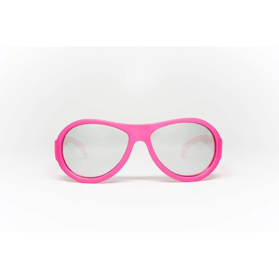 Babiators Aces Aviator - Popstar Pink with Mirrored Lens Front