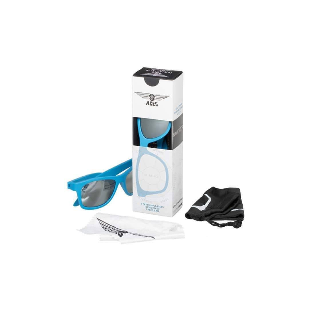 Babiators Aces Navigator - Blue Crush with Mirrored Lens Box