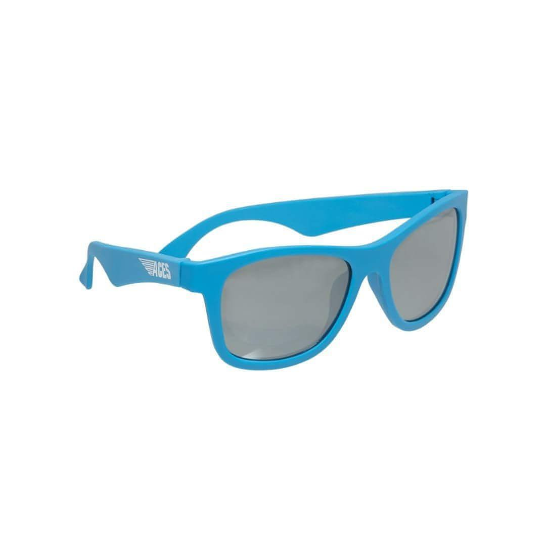 Babiators Aces Navigator - Blue Crush with Mirrored Lens Side