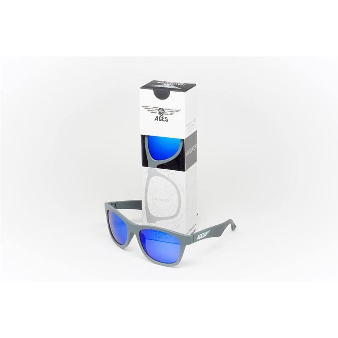 Babiators Aces Navigator - Galactic Gray with Blue Lens Box