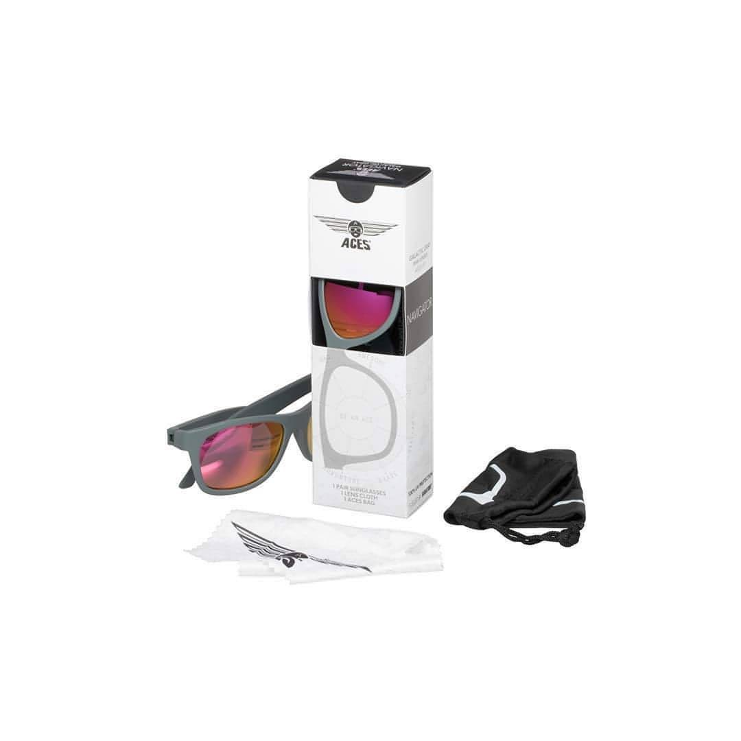 Babiators Aces Navigator - Galactic Gray with Pink Lens Box