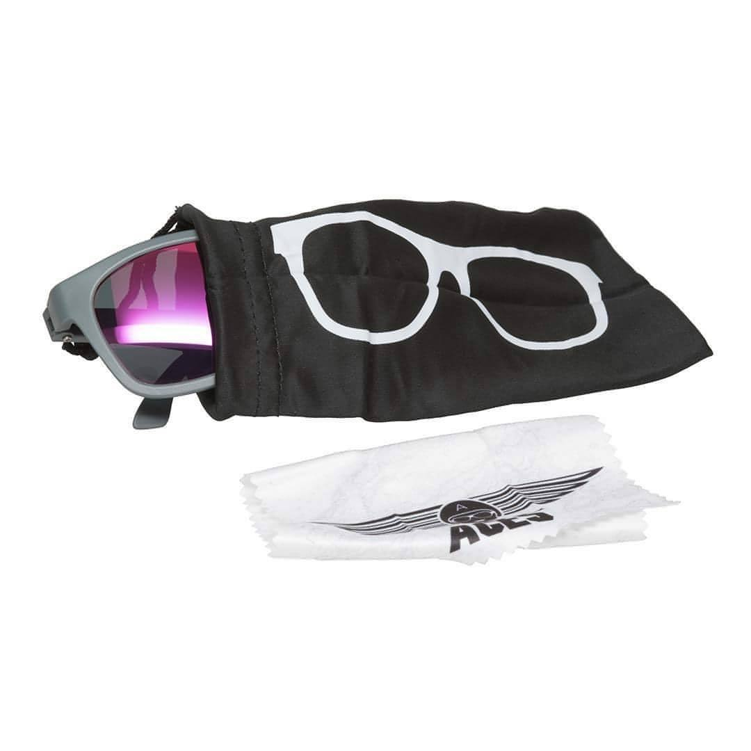 Babiators Aces Navigator - Galactic Gray with Pink Lens Case