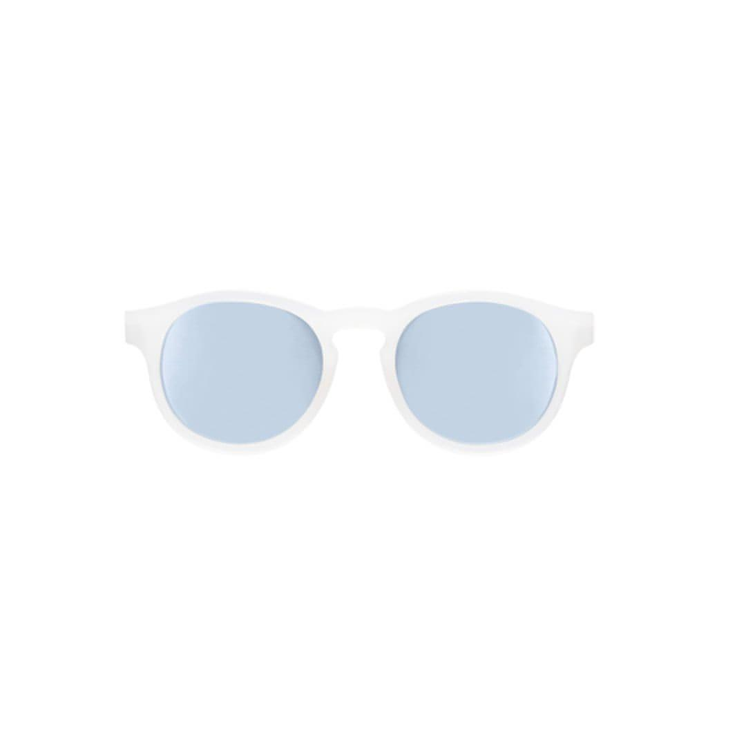 Babiators Blue Series Keyhole - Transparent/Blue Mirrored Lens 1 - Sunglasses - Natural Baby Shower