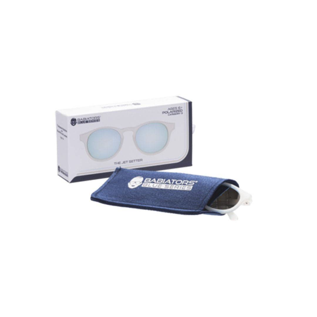 Babiators Blue Series Keyhole - Transparent/Blue Mirrored Lens 2 - Sunglasses - Natural Baby Shower
