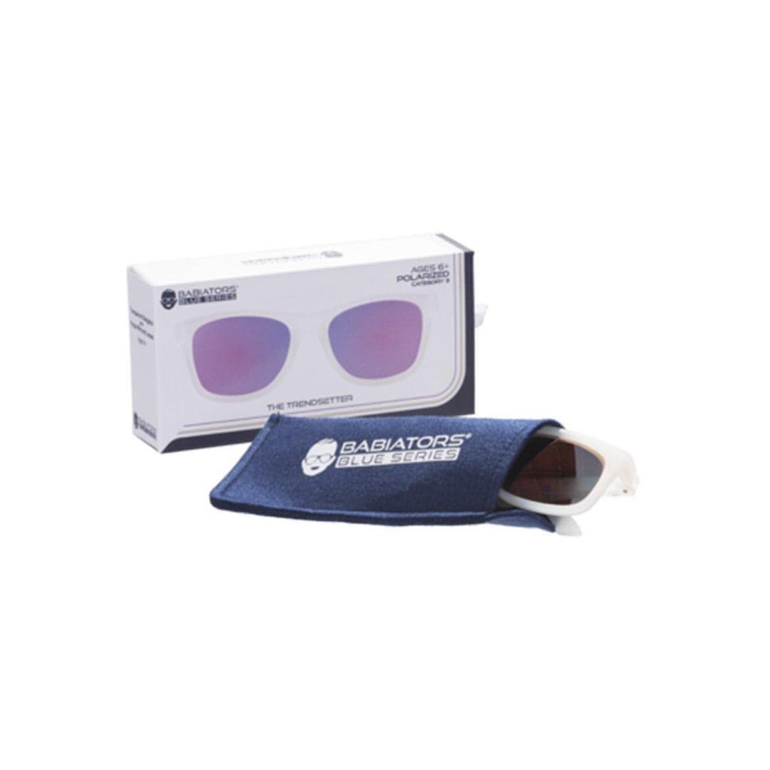 Babiators Blue Series Navigator - Transparent/Purple Mirrored Lens 2 - Sunglasses - Natural Baby Shower