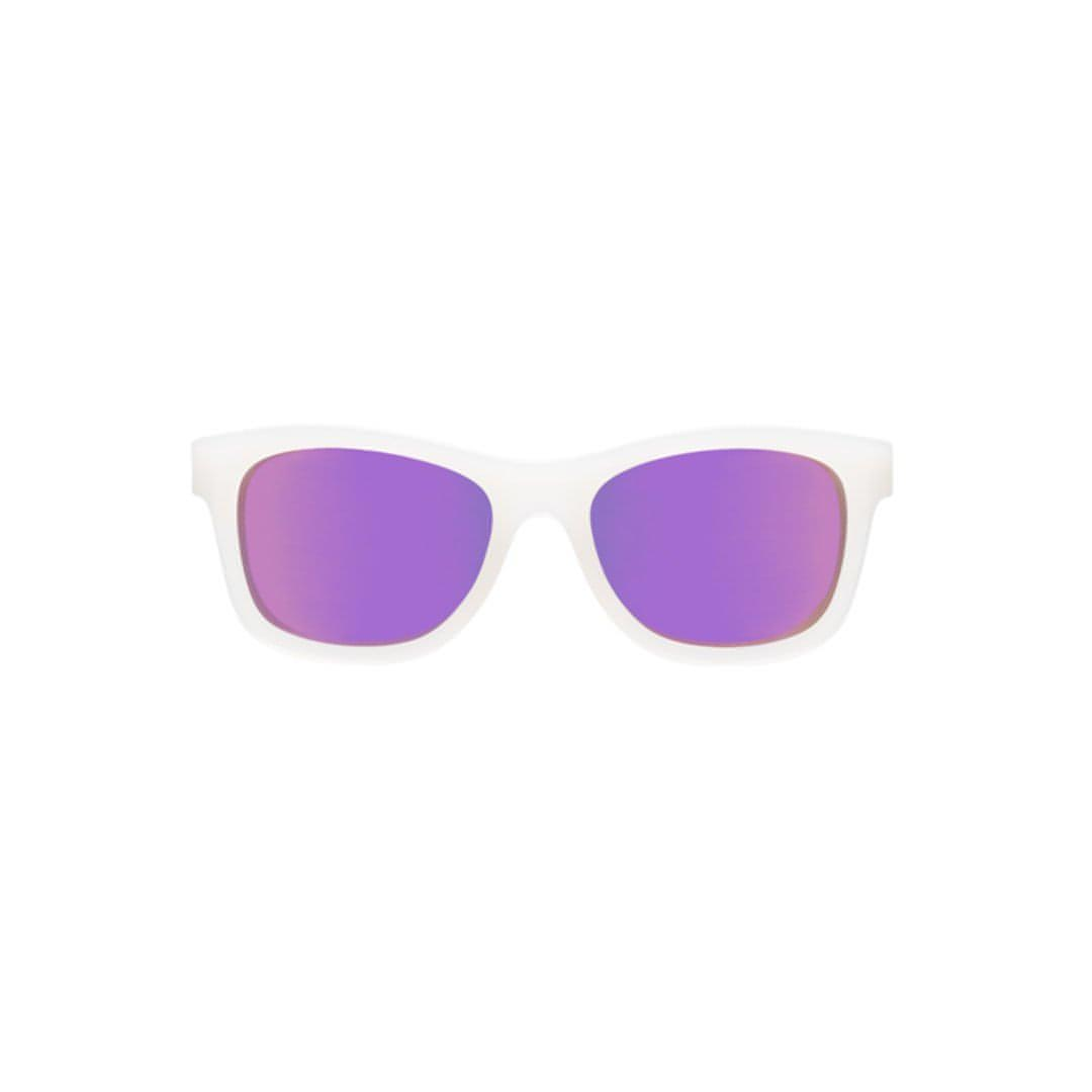 Babiators Blue Series Navigator - Transparent/Purple Mirrored Lens 1 - Sunglasses - Natural Baby Shower