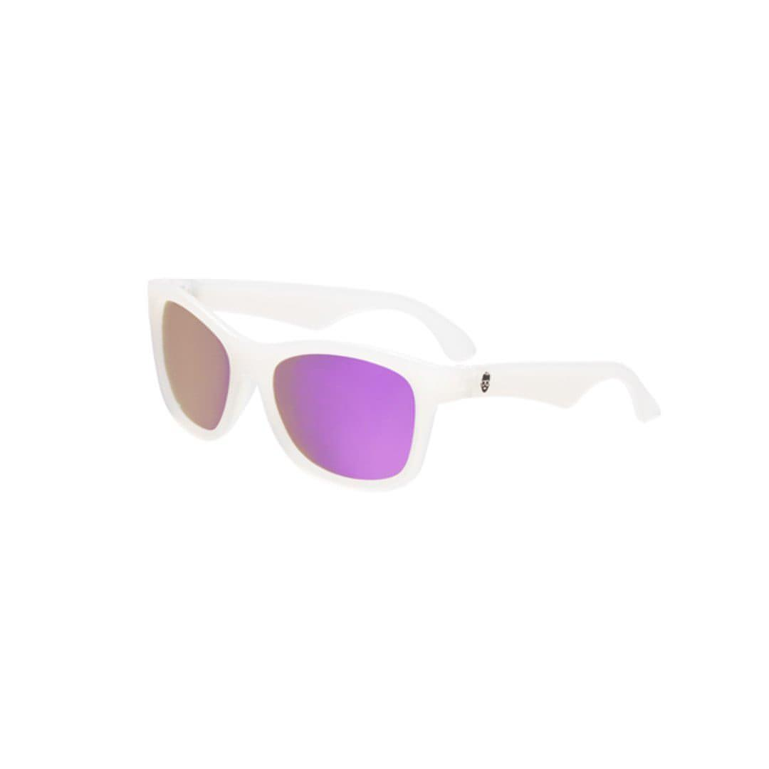 Babiators Blue Series Navigator - Transparent/Purple Mirrored Lens  - Sunglasses - Natural Baby Shower