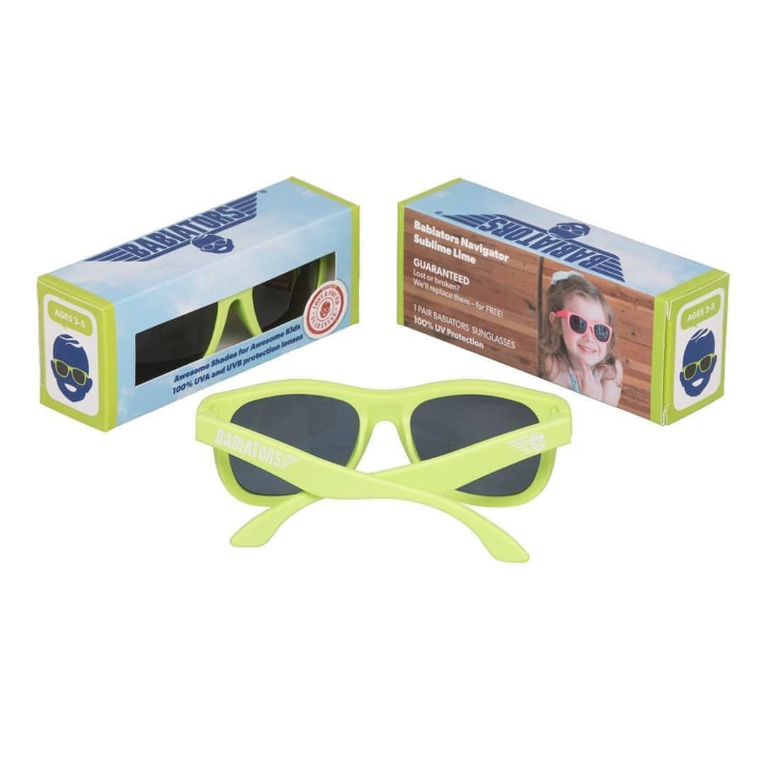 Babiators Original Navigator - Sublime Lime Boxed - Sunglasses - Natural Baby Shower