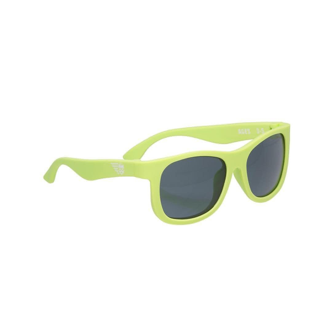 Babiators Original Navigator Sublime Lime Side - Sunglasses - Natural Baby Shower