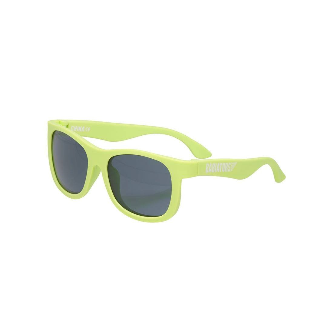 Babiators Original Navigator - Sublime Lime Side - Sunglasses - Natural Baby Shower