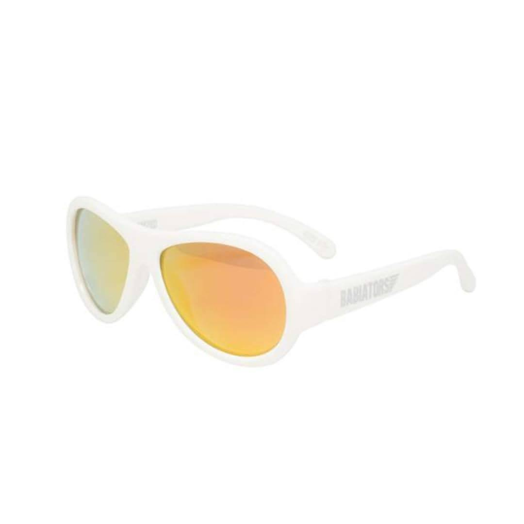 3467158ff9e Babiators Polarized Aviator in Wicked White - Sunglasses - Natural Baby  Shower