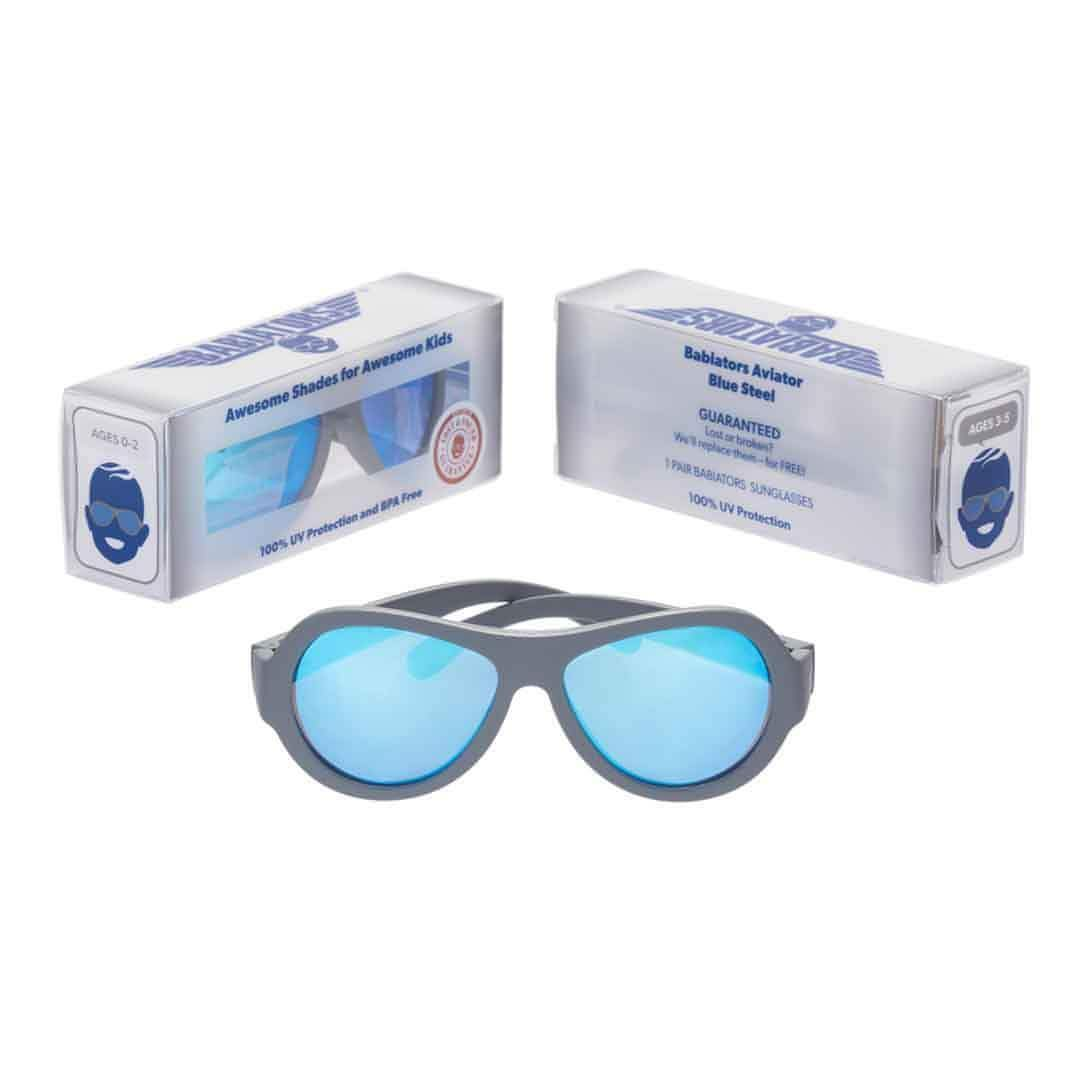 Babiators Premium Aviator - Blue Steel 3 - Sunglasses - Natural Baby Shower