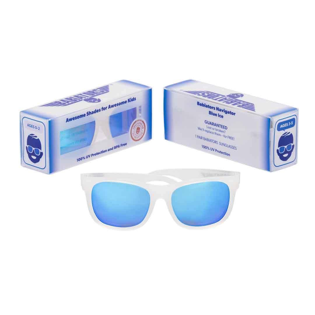 Babiators Premium Navigator - Ice Blue 2 - Sunglasses - Natural Baby Shower
