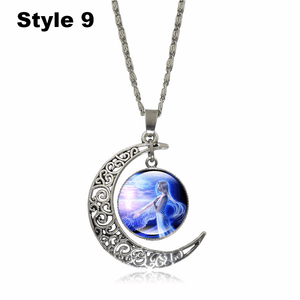 Crescent Moon Angel Pendant Crescent Moon Fashion trends boutiques Style 9