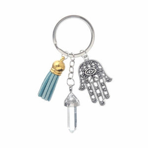 Healing Crystals and Hand of Fatima Keychain Key Chains Global Sourcing Union