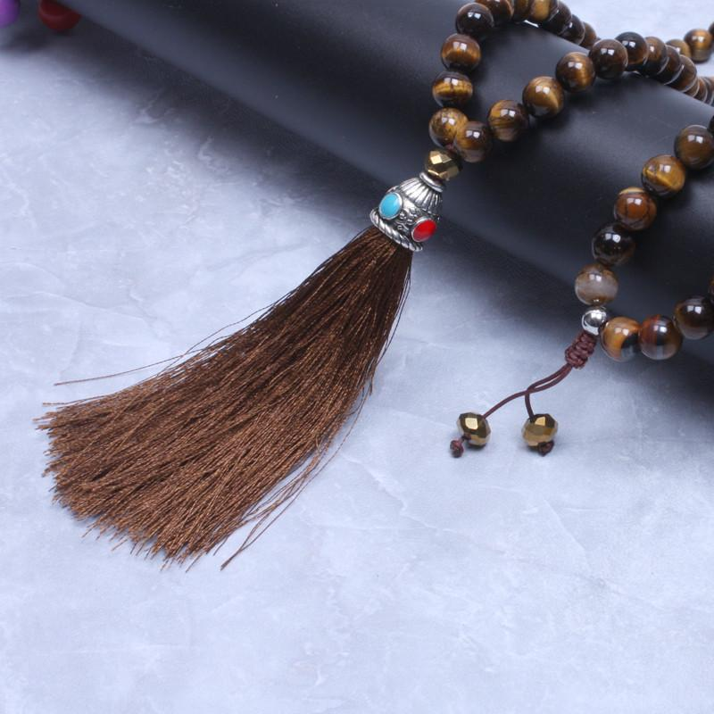 Natural Stone Pendants 108 tiger eye natural stone necklace with tassel zenshopworld 108 tiger eye natural stone necklace with tassel audiocablefo