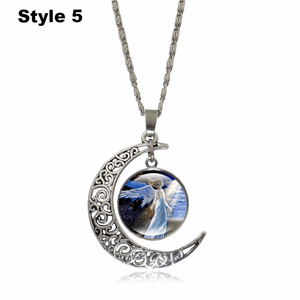 Crescent Moon Angel Pendant Crescent Moon Fashion trends boutiques Style 5