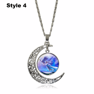 Crescent Moon Angel Pendant Crescent Moon Fashion trends boutiques Style 4
