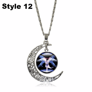 Crescent Moon Angel Pendant Crescent Moon Fashion trends boutiques Style 12
