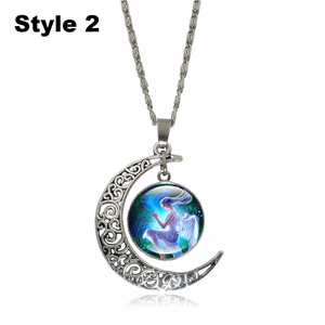 Crescent Moon Angel Pendant Crescent Moon Fashion trends boutiques Style 2