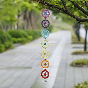 7 Chakra Dream Catcher Wind Chimes & Hanging Decorations H&D Crystal 1 1 DreamCatcher