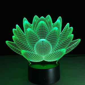 Lotus 3D Colorful LED Night Light LED Night Lights A A A A A Store