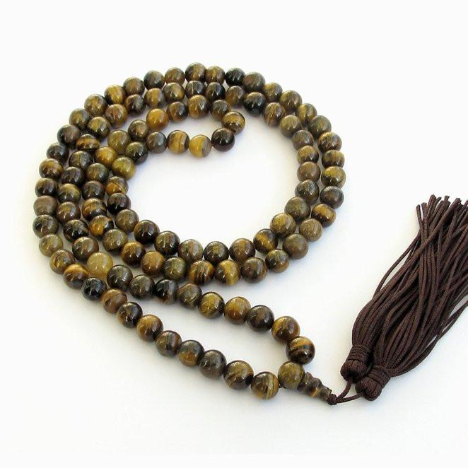 Natural Tiger Eye Mala 108 Charm Bracelets he2014