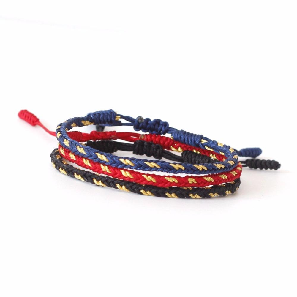Handmade Lucky Knots Rope Bracelet Golden Weave Mix JINJIAHUI FOREIGN TRADE CO.,LTD