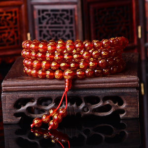 Natural Stone Tibetan Amulet Mantra Mala Bangles LYGLICUN Store Rose Gold and Yellow