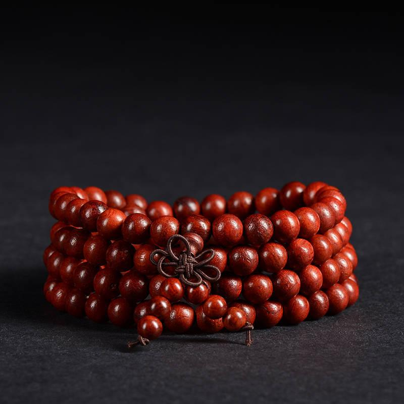 Natural Red Rosewood Mala Beads Himalayan Treasures (Wechat:13886067764) 6mm