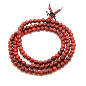 Natural Red Rosewood Mala Beads Himalayan Treasures (Wechat:13886067764)
