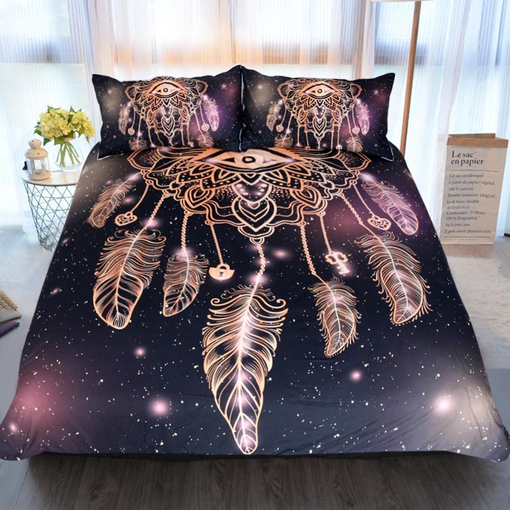 3Pcs Set Eye Dreamcatcher 3D Universe Duvet Cover With Pillowcase Covers Bedding Sets BeddingOutlet Official Store
