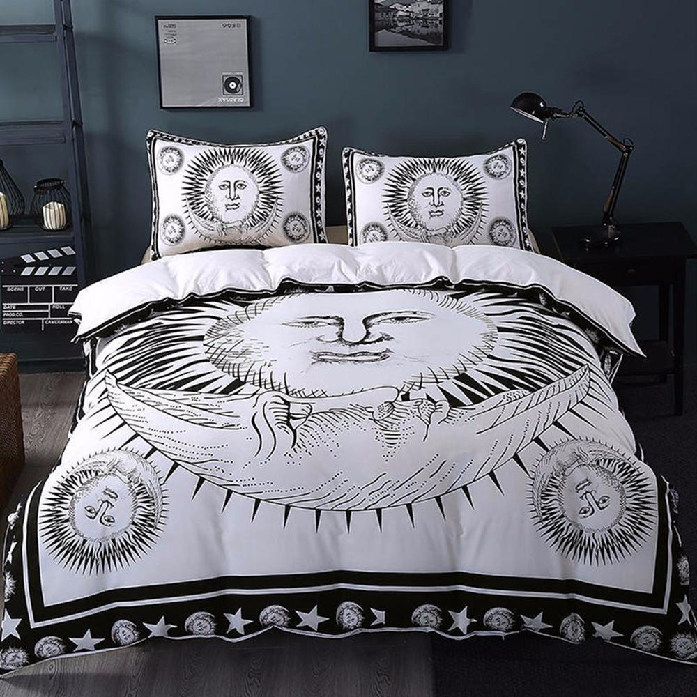3Pcs Set Sun and Moon Duvet Cover With Pillowcase Covers Bedding Sets BeddingOutlet Official Store