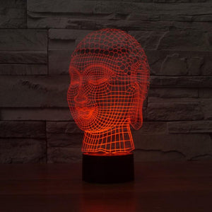 Limited Edition 3D Hologram Buddha LED Lamp Night Lights zenshopworld