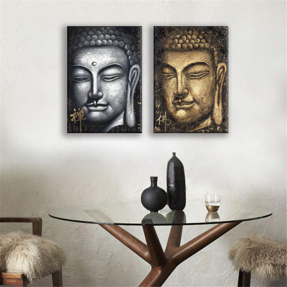 Buddha Face Painting 2 Pieces - zenshopworld
