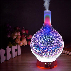 Vase Aromatherapy 3D Light Essential oil Diffuser and Humidifier Incense & Incense Burners Shop3213130 Store