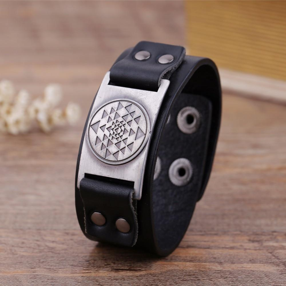 Sri Yantra Leather Bracelet Dawapara Official Store