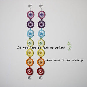 7 Chakra Dream Catcher Wind Chimes & Hanging Decorations H&D Crystal 1 2 DreamCatchers