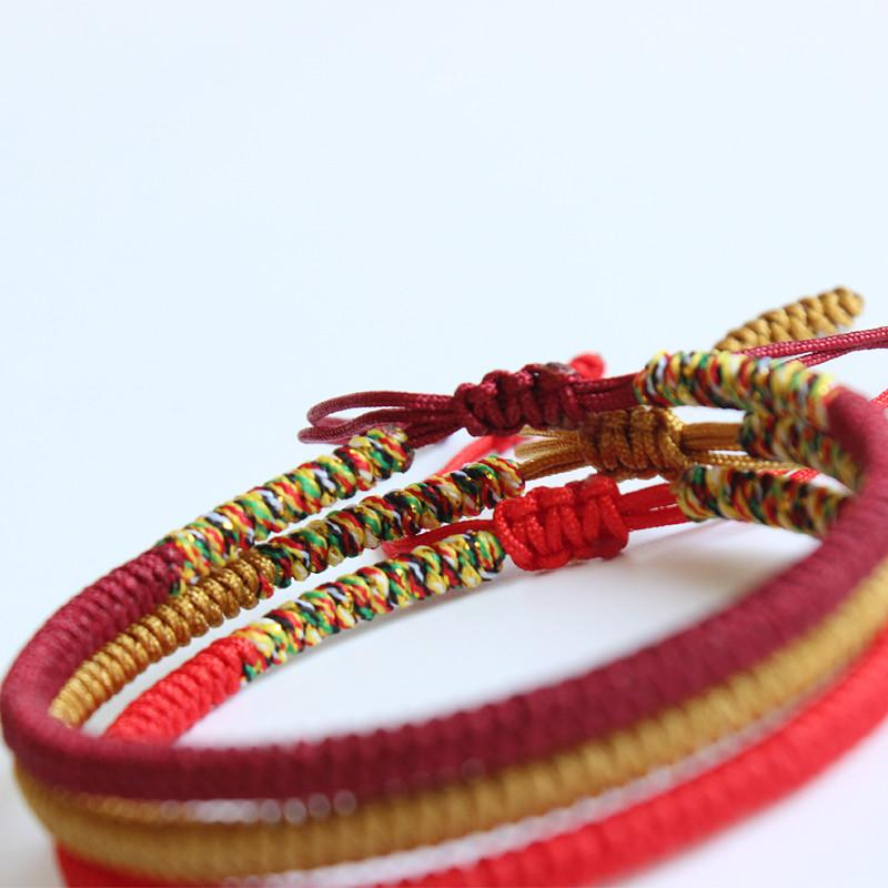 good buy multi ae women bracelets bangles en spirit kundalini men tibetan for xl knots charm lucky item rope buddhist i handmade color bracelet
