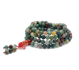 108 All Natural Agate Mala Strand Bracelets zenshopworld