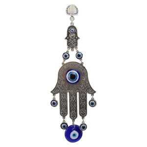 Hand of Fatima Evil Eye Hanging Wall Amulet Wind Chimes & Hanging Decorations Getyoursave