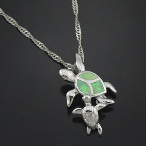 Mom and Baby Turtle Opal Necklace Pendants OPAL OPAL